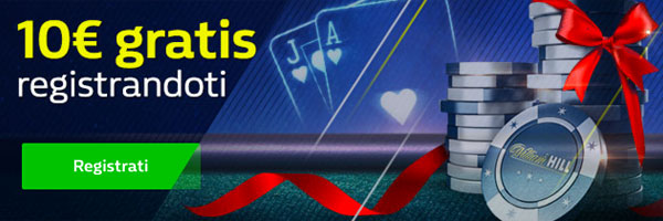 10 euro gratis con William Hill